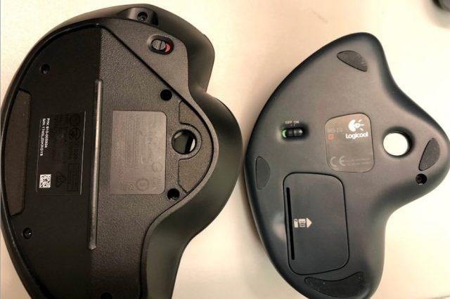 M570tを愛用しているトラックボールユーザーがMX ERGOをレビューしてみる 底面